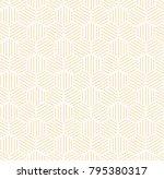 orange hexagonal line seamless... | Shutterstock . vector #795380317
