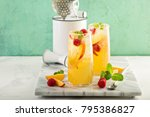 colorful refreshing cold summer ...   Shutterstock . vector #795386827