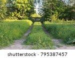 farm object and landscape... | Shutterstock . vector #795387457