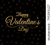 valentine's greeting card with... | Shutterstock .eps vector #795393127