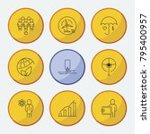 industrial icons set with iot ... | Shutterstock .eps vector #795400957