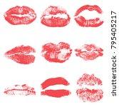 female kiss shape lips... | Shutterstock .eps vector #795405217