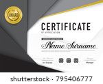 certificate template luxury and ... | Shutterstock .eps vector #795406777