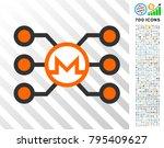 monero masternode network icon... | Shutterstock .eps vector #795409627