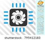 processor cooler pictograph... | Shutterstock .eps vector #795412183