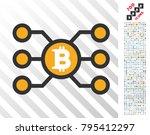 bitcoin node links pictograph... | Shutterstock .eps vector #795412297