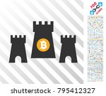bitcoin fortress icon with 7... | Shutterstock .eps vector #795412327