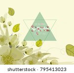 floral background  spring theme ... | Shutterstock .eps vector #795413023