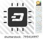dash processor chip pictograph... | Shutterstock .eps vector #795414997