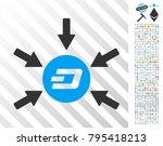 dash coin income arrows icon... | Shutterstock .eps vector #795418213