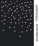 falling down  flying rose... | Shutterstock .eps vector #795424447