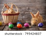 Easter Bunny With Eggs On...