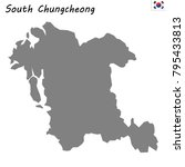 high quality map of south... | Shutterstock .eps vector #795433813