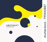bright poster with splatter.... | Shutterstock .eps vector #795443887