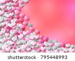 valentines day card with... | Shutterstock .eps vector #795448993