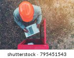 safety officer working on... | Shutterstock . vector #795451543