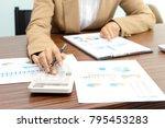 businessman and businesswoman...   Shutterstock . vector #795453283