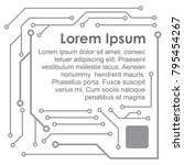 circuit board technology.... | Shutterstock .eps vector #795454267