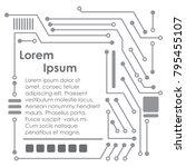 circuit board technology.... | Shutterstock .eps vector #795455107