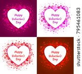 valentines day card design set. ... | Shutterstock .eps vector #795461083