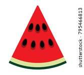 flat design icon of watermelon...