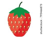 flat design icon of strawberry...