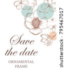 wedding invitation  thank you... | Shutterstock .eps vector #795467017