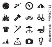 solid black vector icon set  ... | Shutterstock .eps vector #795467413