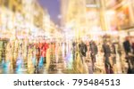 crowd of anonymous people... | Shutterstock . vector #795484513