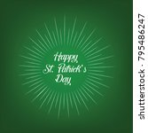 st patrick's day  17 march  | Shutterstock .eps vector #795486247