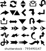 latest arrow set | Shutterstock .eps vector #795490147