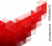red grid mosaic background ... | Shutterstock .eps vector #795490573