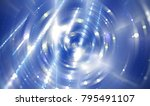 abstract background blue tunnel.... | Shutterstock . vector #795491107