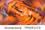 abstract gold geometric... | Shutterstock . vector #795491173