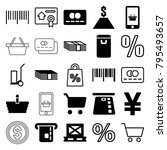 buy icons. set of 25 editable... | Shutterstock .eps vector #795493657