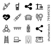technology icons. set of 16... | Shutterstock .eps vector #795493783
