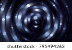 abstract blue bokeh circles on... | Shutterstock . vector #795494263