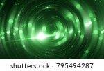 abstract green bokeh circles on ... | Shutterstock . vector #795494287