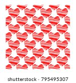red hearts seamless pattern... | Shutterstock .eps vector #795495307