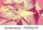 polygonal pink background.... | Shutterstock . vector #795496147