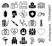 doctor icons. set of 25... | Shutterstock .eps vector #795496897