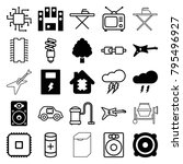 electrical icons. set of 25... | Shutterstock .eps vector #795496927