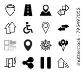 navigation icons. set of 16... | Shutterstock .eps vector #795497053