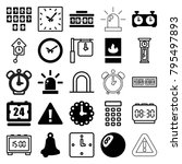 alarm icons. set of 25 editable ... | Shutterstock .eps vector #795497893