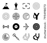target icons. set of 16... | Shutterstock .eps vector #795498073