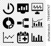 chart icons. set of 9 editable... | Shutterstock .eps vector #795499747