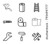 utility icons. set of 9... | Shutterstock .eps vector #795499777