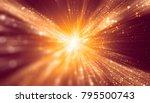 abstract red bokeh circles.... | Shutterstock . vector #795500743