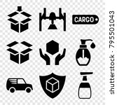 packaging icons. set of 9... | Shutterstock .eps vector #795501043