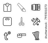 instrument icons. set of 9... | Shutterstock .eps vector #795501073